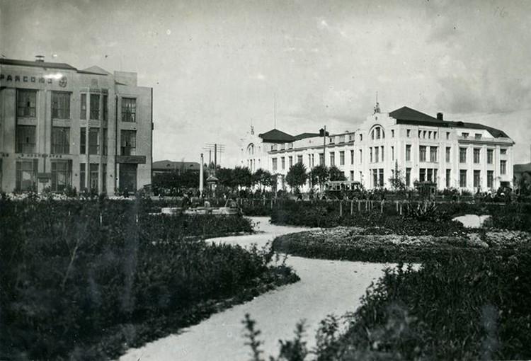 Плановый институт в середине 20-х годов. Фото: Музей Новосибирска.