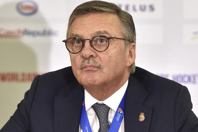 Глава ИИХФ Рене Фазель.