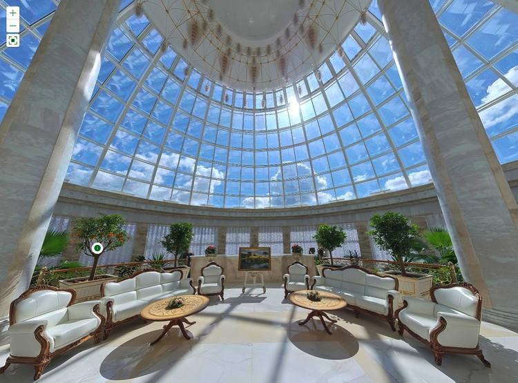 Холл зимнего сада Дворца независимости в Минске. Фото: president.gov.by.