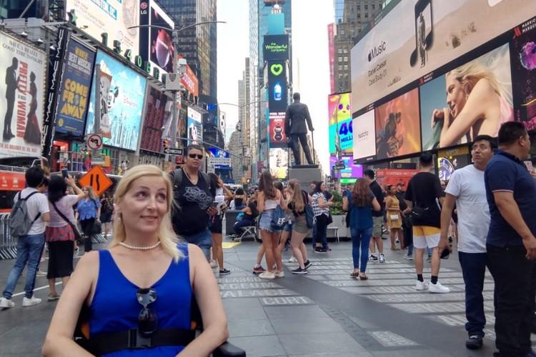 Наталья очень много времени проводит на улицах Нью-Йорка. Фото: личный архив
