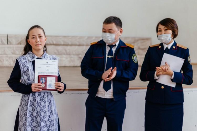 Ксения получила от следователей медаль «Доблесть и отвага».