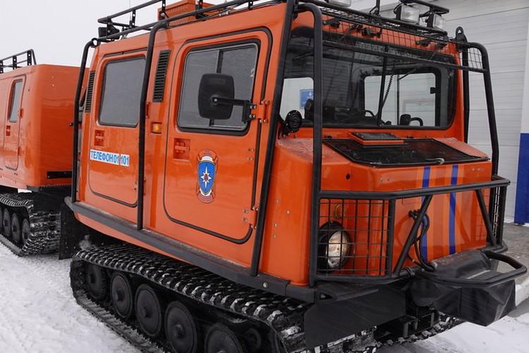 На Комсомольской площади Хабаровска дежурит снегоболотоход «Лось»