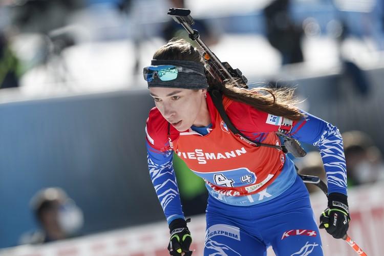 Ульяна Кайшева на дистанции эстафеты.