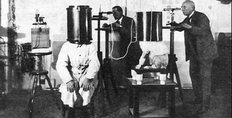 Доктор Карл Кролл проводит опыты по телепатией между собаками и людьми.