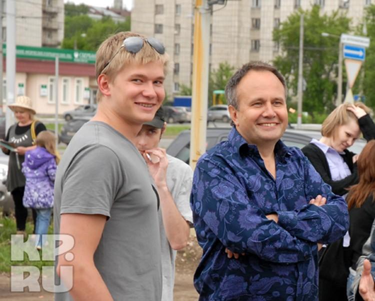 Олег Чиркунов приехал с младшим сыном Андреем.