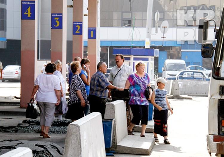 Возле «Синегорья» вчера бродили потерянные пассажиры.