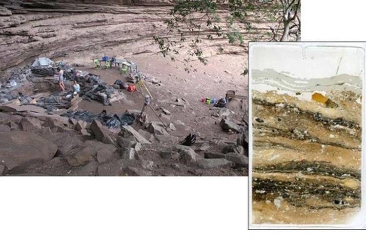 Раскопки в пещере Сибуду.