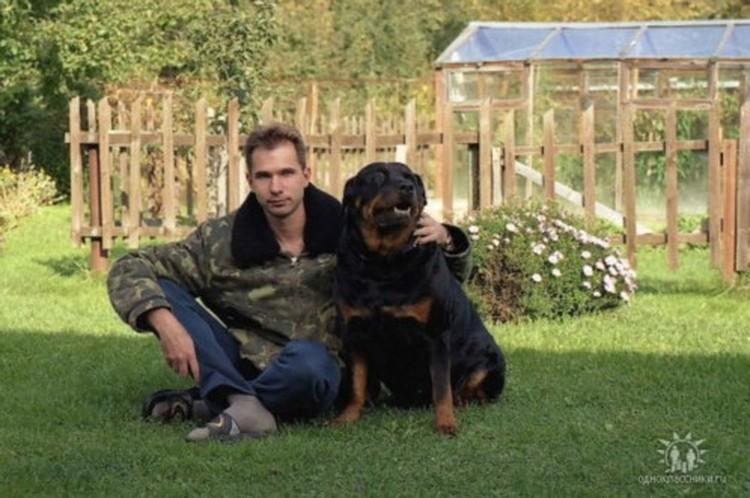 ...и с любимой собакой...