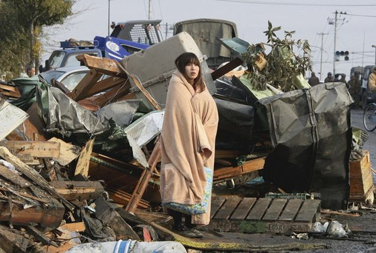 Одна из тысяч пострадавших - Юко Сугимото, 13 марта 2011 года.