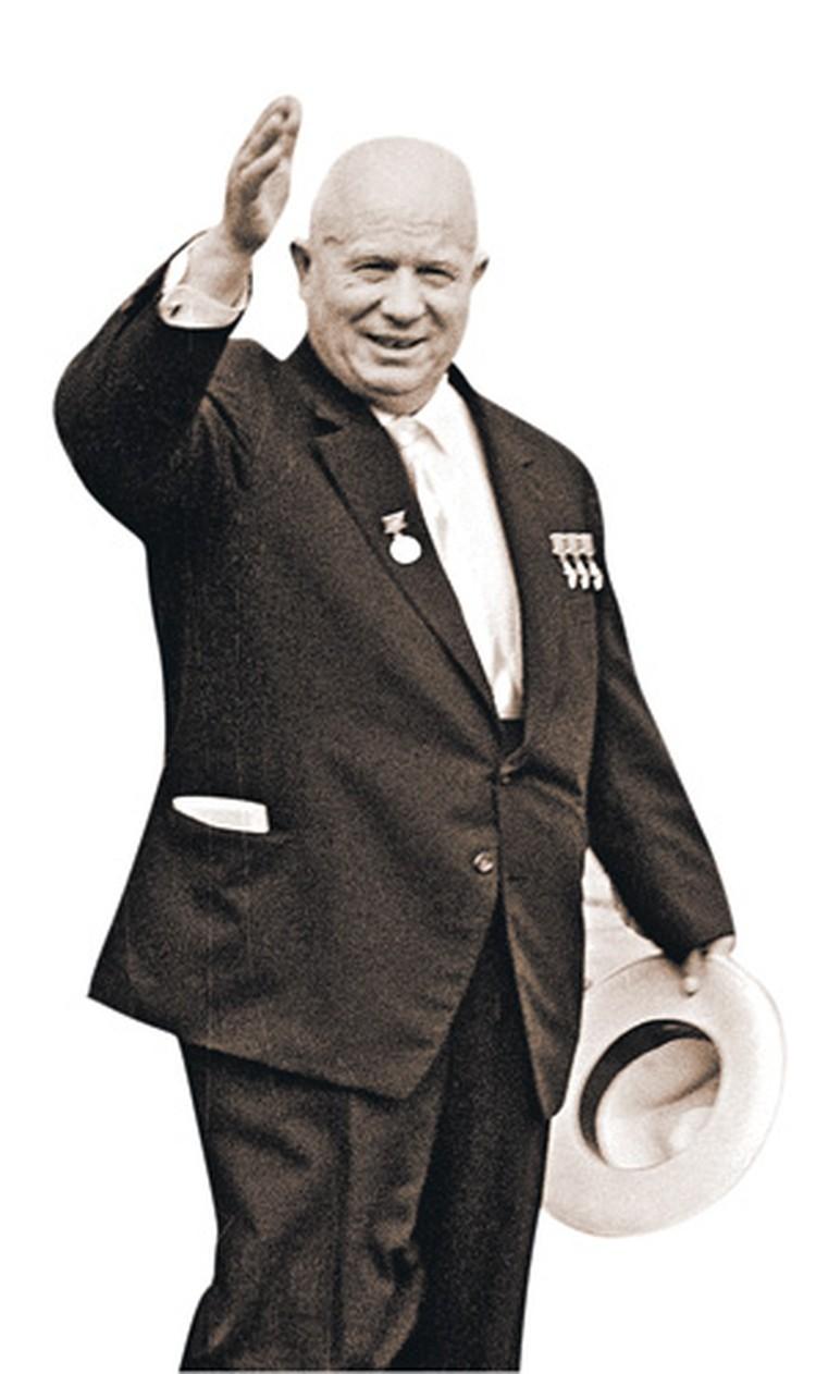 Вот в таком костюме, сшитом портными из КГБ, Хрущев отправлялся в международные поездки.