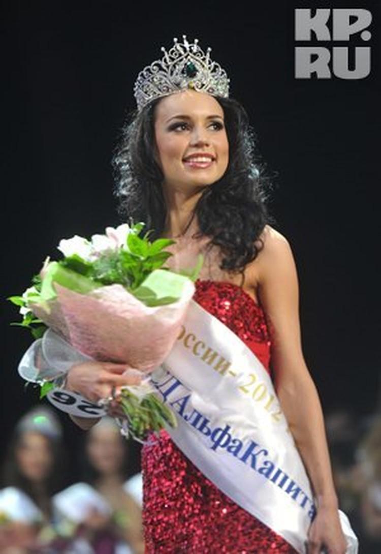 """Победительница конкурса """"Краса России-2012""""."""