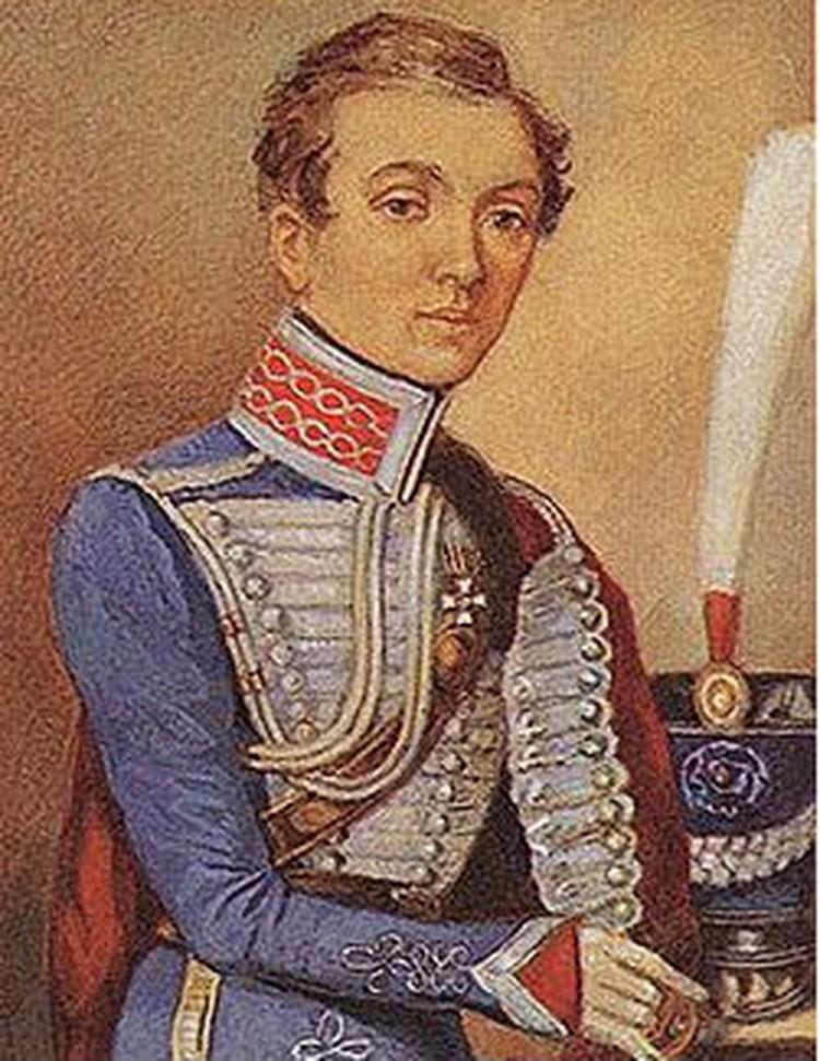 Надежда Дурова в форме подпоручика Мариупольского гусарского полка, 1807 год