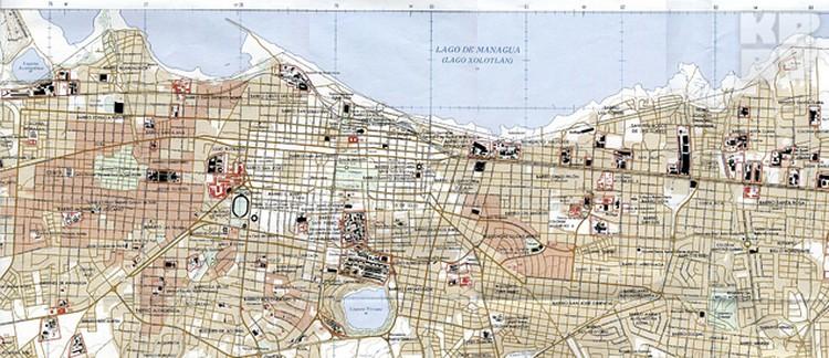 Карта Манагуа.