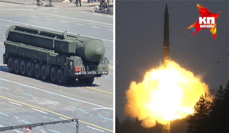 """Вот так выглядит РС-12М """"Тополь"""" до запуска и во время."""