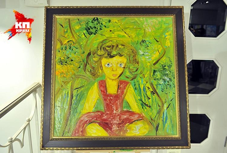На этот раз бывшая чиновница представила более 40 картин в различных жанрах