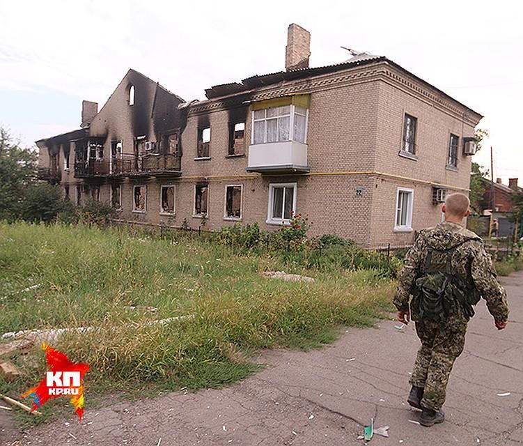 Фото разрушенных домов и переселенцев