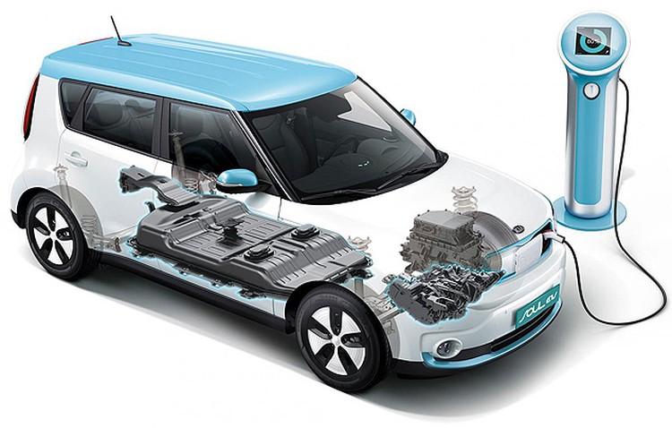 Вместо обычного двигателя - электромотор, а батареи спрятаны под полом.