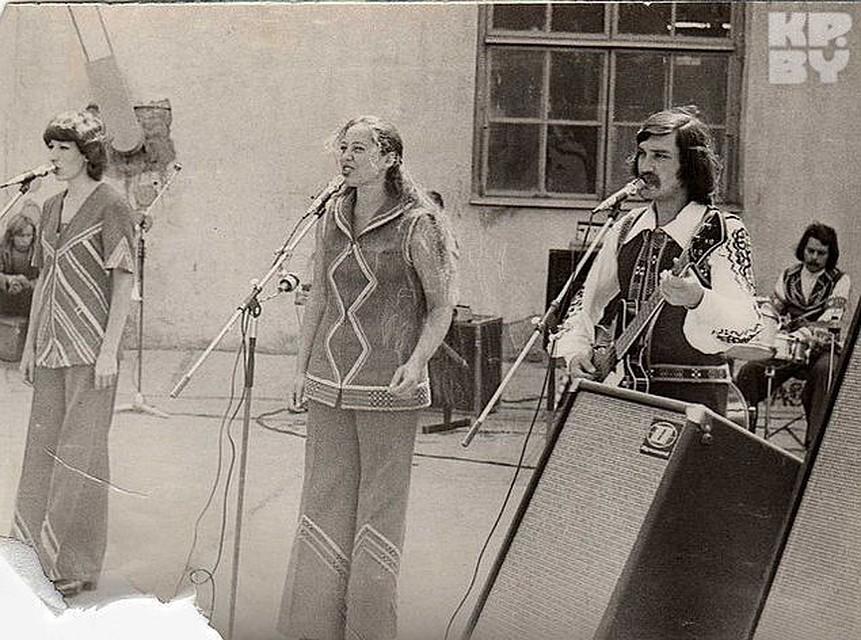 """С Александром Тихановичем, """"Верасы"""", 70-е."""