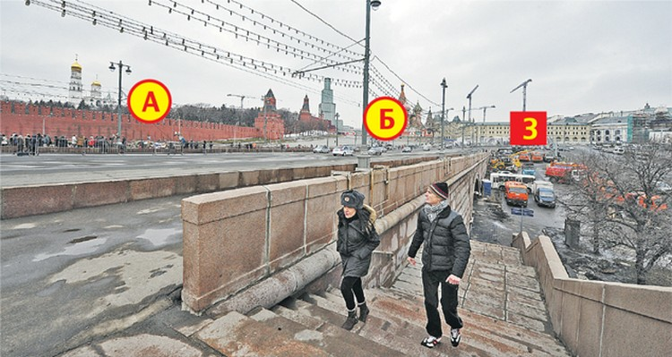 Так выглядит место драмы с противоположной стороны Большого Москворецкого моста.