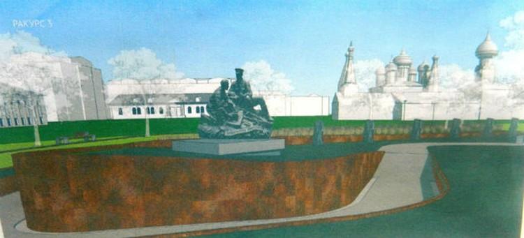 Пятиметровый памятник может перекрыть вид на храм. ФОТО: предоставлено Ольгой МАЗАНОВОЙ