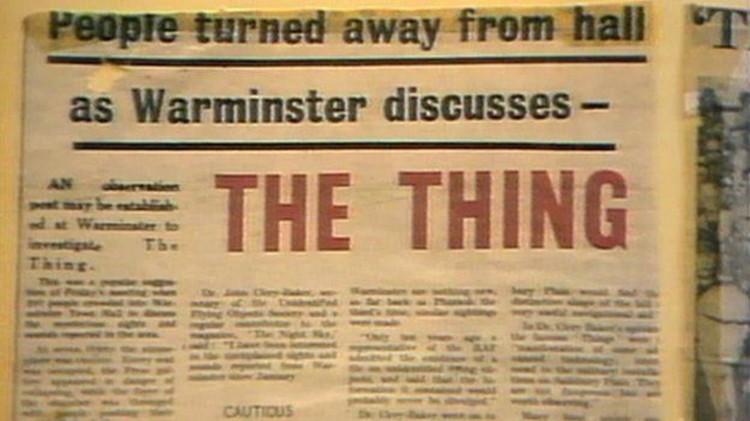 """Объявление об общем собрании, котором обсуждали прилетавший НЛО, получивший название """"Штуковина""""."""