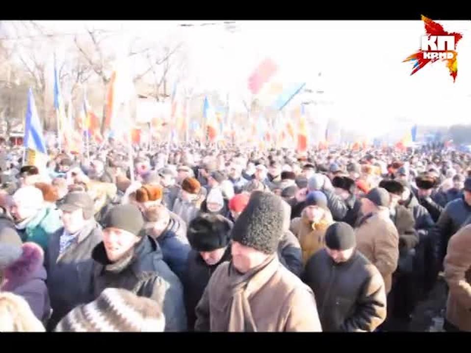 24 января. В Кишиневе проходит самая масштабная акция протеста за последнее время
