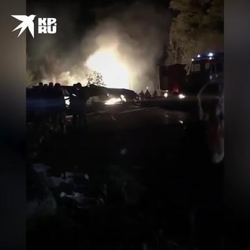 Очевидец с места падения самолета под Харьковом