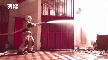 В чеченском Аргуне произошел пожар на АЗС