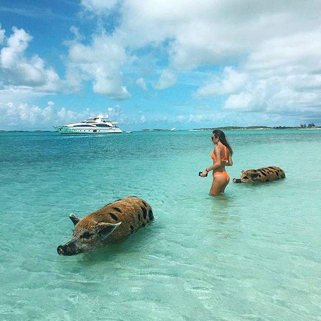 К яхте с охраной - by #InternationalFamilyMember @polinaaam #RRKlive #RRK #RichRussianKids #bahamas #piggy #yacht