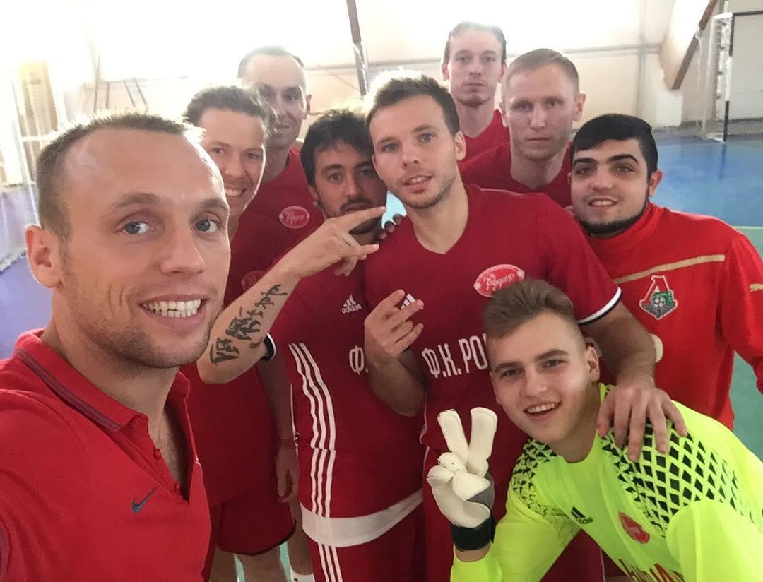 Денис Глушаков на турнире по мини-футболу в Кашарах Ростовской области