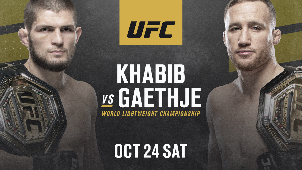KHABIB. GAETHJE. For legacy and for gold.