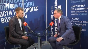 Александр Бурков В открытой студии «Комсомольской правды»