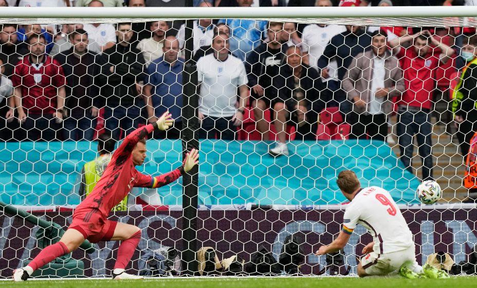 Гарри Кейн забил свой первый мяч на Евро-2020 в ворота немцев. Фото: Reuters